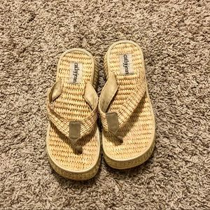 Vintage Cathy Jean Woven Wedge Sandals